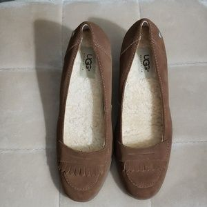 Brown Uggs loafers